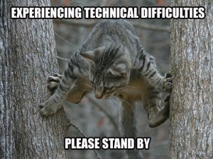 tech difficulties cat